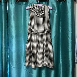 Monteau Dresses - Houndstooth Cowl Neck Dress